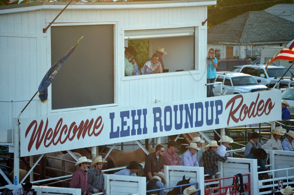 Lehi Roundup Rodeo Sign