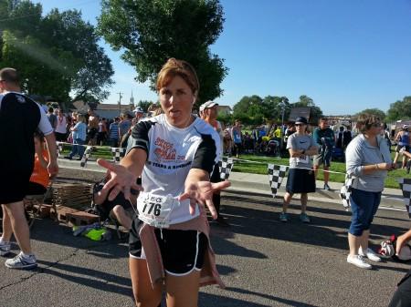 Eliece after race