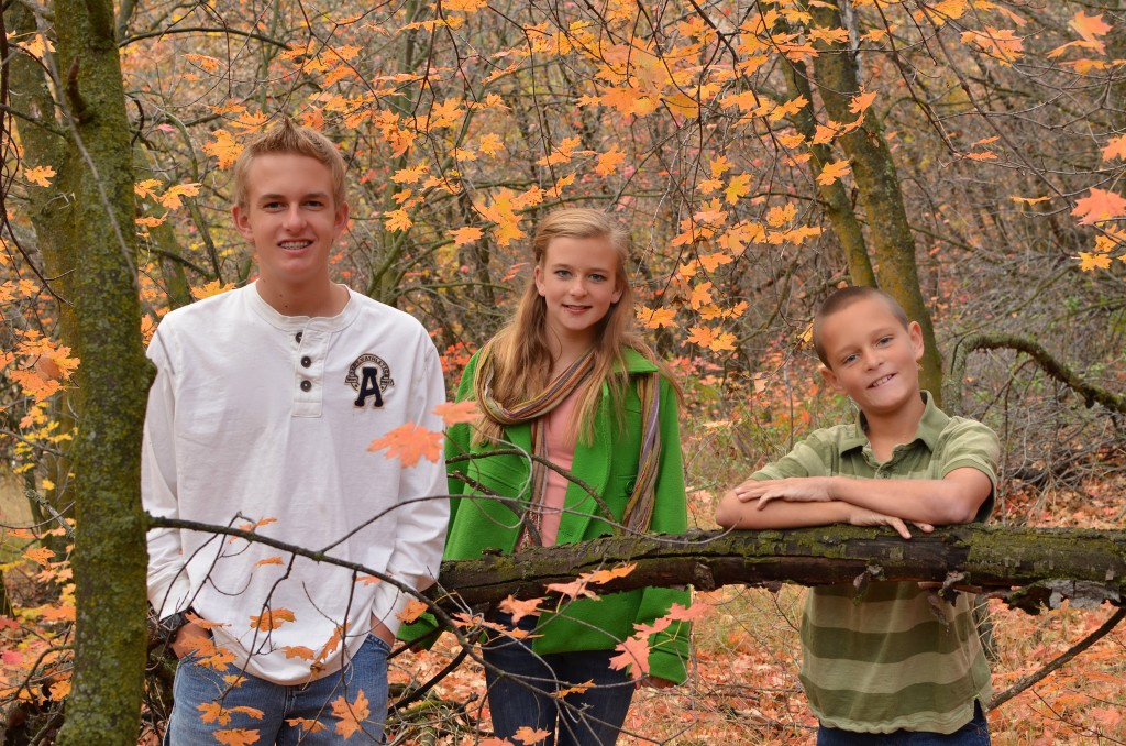 fall photos kids in the trees copy